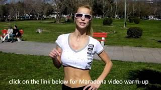 getlinkyoutube.com-Hot Female abs- soccer warm-up exercises