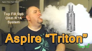 "getlinkyoutube.com-Aspire ""Triton"" Top Fill Sub Ohm Tank Review 