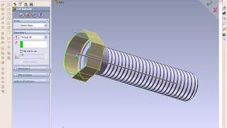 getlinkyoutube.com-SolidWorks Tutorial, How to Draw a Bolt