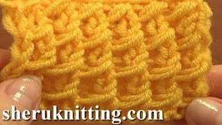 getlinkyoutube.com-Free Knitting Stitch Pattern Tutorial 3 Easy to Knit Stitch Paterns