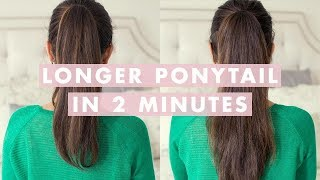 getlinkyoutube.com-Longer Ponytail in 2 Minutes