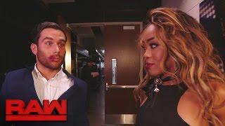 Alicia Fox kisses Noam Dar: Raw, Jan. 9, 2017 width=