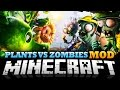 Minecraft Mod | PLANTS VS ZOMBIES MOD - Protect Your Home with Plants! - Mod Showcase