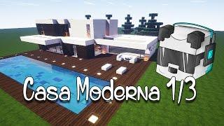 getlinkyoutube.com-Minecraft Tutorial Casa Moderna 1/3