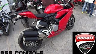 getlinkyoutube.com-Ducati 959 Panigale Walkaround/Stock Exhaust Note
