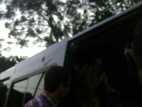 Rebeldes chegando na MTV para o Top 10 15/06/2012 @papararura