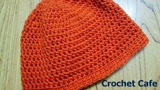 كروشيه قبعة \ طاقية بالمقاس المناسب لأى شخص للأطفال أوالكبار |Crochet Cafe