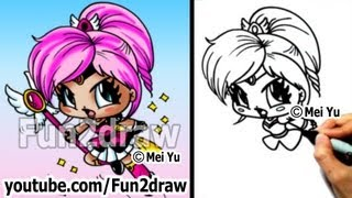 getlinkyoutube.com-Chibi Drawing Tutorial - How to Draw a Cute Magical Girl - Art Lessons - Draw People - Fun2draw