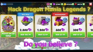 Hack Dragon Mania Legends - Do you believe ?
