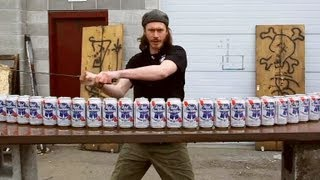 getlinkyoutube.com-Max Vs 24 Beer Cans - You Have Been Warned