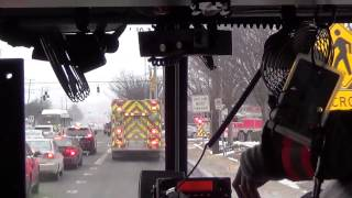 getlinkyoutube.com-MCFRS Rescue Engine 703 Responding To Fire (Ride Along)