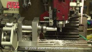 getlinkyoutube.com-Mini Machining Center - final design 4th axis - scratch built servo powered