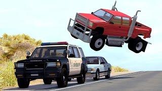 getlinkyoutube.com-Realistic High Speed Crashes #17 - BeamNG Drive