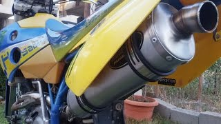 getlinkyoutube.com-HUSABERG Race Tech Exhaust Vs Original Exhaust
