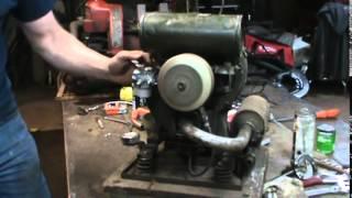 getlinkyoutube.com-antique 2 stroke engine with modern carb