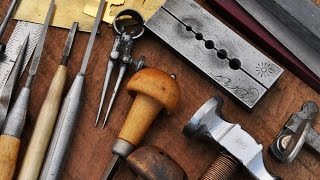 getlinkyoutube.com-Hammer and Chisel Hand Engraving - Tools and Workspace