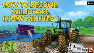 getlinkyoutube.com-How to become a millionaire in few minutes in Farming Simulator 15