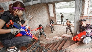 LTT-Nerf-War-SEAL-X-Warriors-Nerf-Guns-Fight-Attack-Criminal-Group-Team-revenge width=