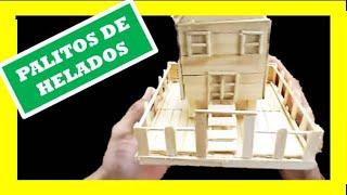 getlinkyoutube.com-MANUALIDADES / Como Hacer una Casa con Palitos de Helado