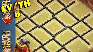getlinkyoutube.com-CLASH OF CLANS - MELHOR LAYOUT CV8 DE GUERRA //TH8 WAR BASE // [ANTI 3 STARS]