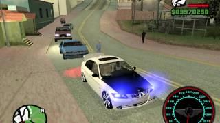 getlinkyoutube.com-Rolé De BMW Na Fixa , Som Alto e Carro Baixo GTA San