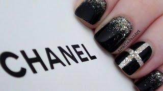 getlinkyoutube.com-Chic Chanel Inspired Nails  |  ArcadiaNailArt