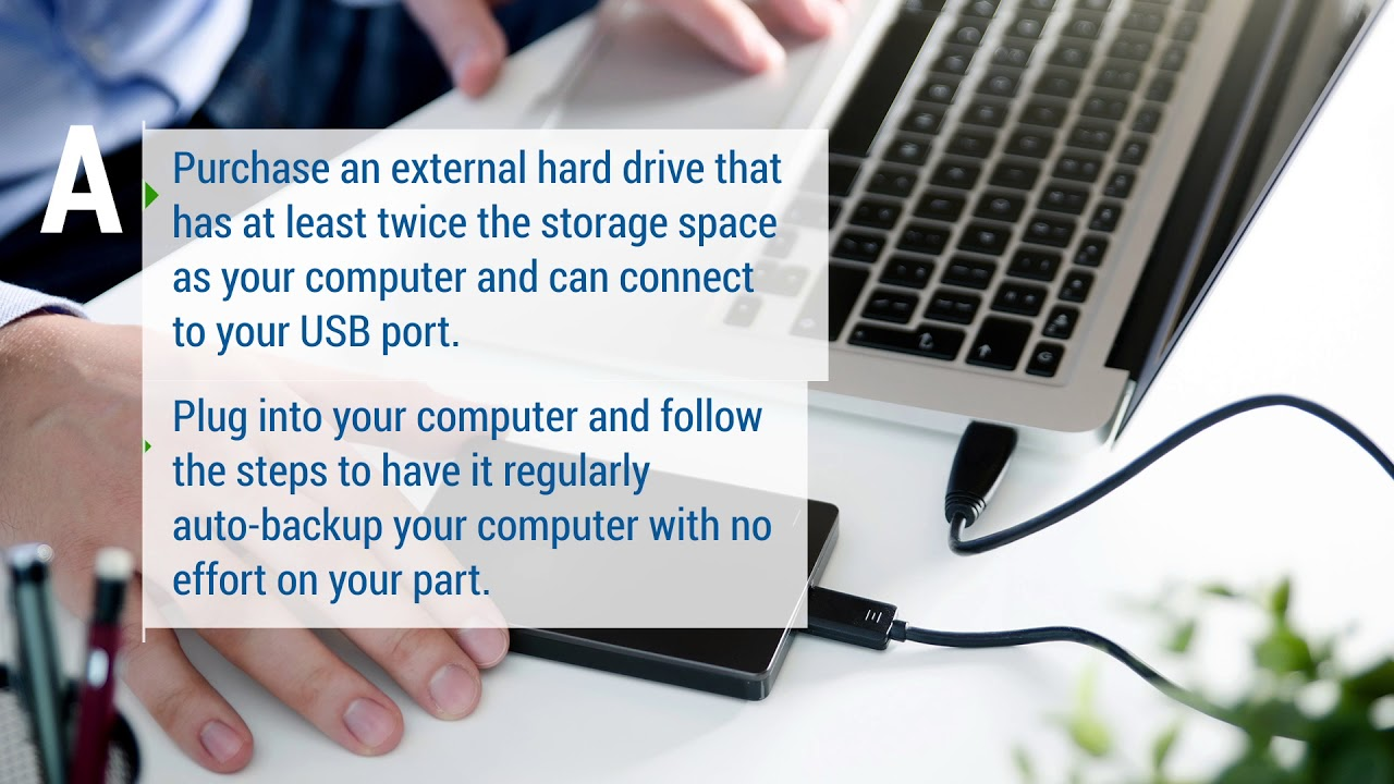 How to backup to an External Drive