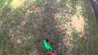 getlinkyoutube.com-Nerf Centurion VS Zing Z-tek Bow, range and firing demos