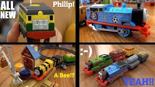 getlinkyoutube.com-Toy Trains: Trackmaster Philip, Busy Bee James, Percy, Thomas the Tank Engine and more!