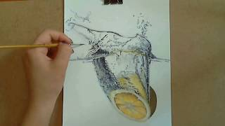 getlinkyoutube.com-Drawing: The Water Challenge (with tempera paint )