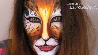 getlinkyoutube.com-Maquillaje de carnaval - Felino ⓂⒾⒶⓊ