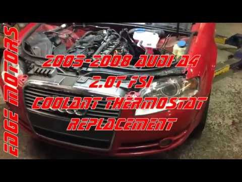 Audi A4 2 0T FSI coolant thermostat replacement by Edge Motors