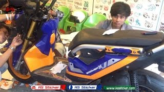 getlinkyoutube.com-Honda ZOOMER X 2017 - upgrade Model Honda Zoomer X 2016 to become 2017 new