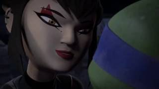 getlinkyoutube.com-Tmnt 2012/Season 2 |Leo & Karai Moments|(Romance♥)