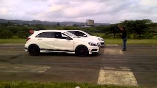 getlinkyoutube.com-Innovatec A45 AMG Vs. Stealth Golf 6 GTi #stanger