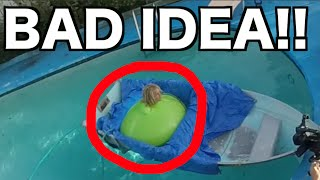 getlinkyoutube.com-6FT MAN IN GIANT WATER BALLOON GONE WRONG!!!!! Almost Drowns!