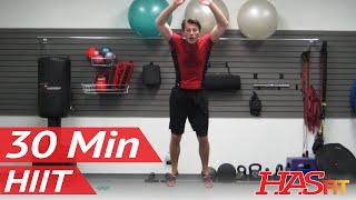 Ultimate Warrior 30 Minute HIIT Workout w/ Plyometrics Strength Cardio Abs & MMA