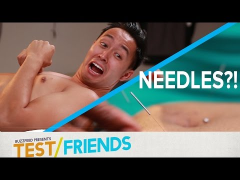 People Try Acupuncture Therapy • The Test Friends