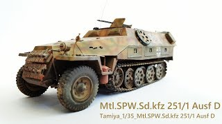 Tamiya 1/35 Scale Halftrack Mtl.SPW.Sd.kfz 251/1 Ausf D - Paint
