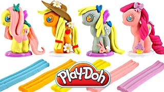 getlinkyoutube.com-Play Doh MY LITTLE PONY Make N' Style Ponies #2 | Fluttershy, Applejack, Derpy Hooves, Pinkie Pie