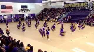 getlinkyoutube.com-Livingston High School homecoming rally 2014 -Colorguard