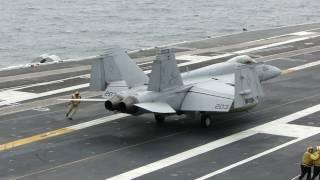 getlinkyoutube.com-Carrier Qualifications On USS Abraham Lincoln (CVN 72) July 26, 2010 (1080p)