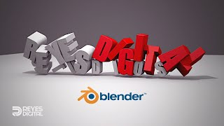 getlinkyoutube.com-Tutorial » Caída de Texto 3D en Blender / REYES Digital Studios