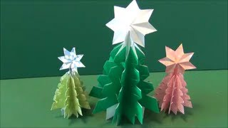 "getlinkyoutube.com-5分で簡単!「クリスマスツリー」折り紙Easy at 5 minutes! ""Christmas tree"" origami"