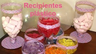 getlinkyoutube.com-Cómo hacer recipientes de plástico para fiestas. DIY Party ideas containers