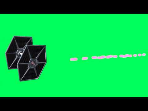 Tie Fighter shoots- free green screen effects