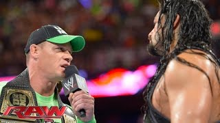 getlinkyoutube.com-John Cena confronts Roman Reigns: Raw, July 14, 2014