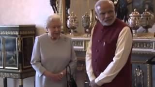 getlinkyoutube.com-PM Modi meets Queen Elizabeth II