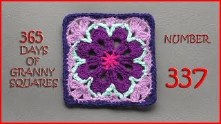 getlinkyoutube.com-365 Days of Granny Squares Number 337