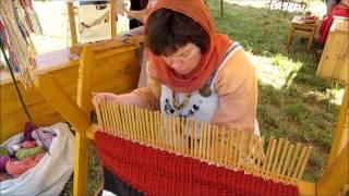 getlinkyoutube.com-Stick Weaving - an experimental archaeology project